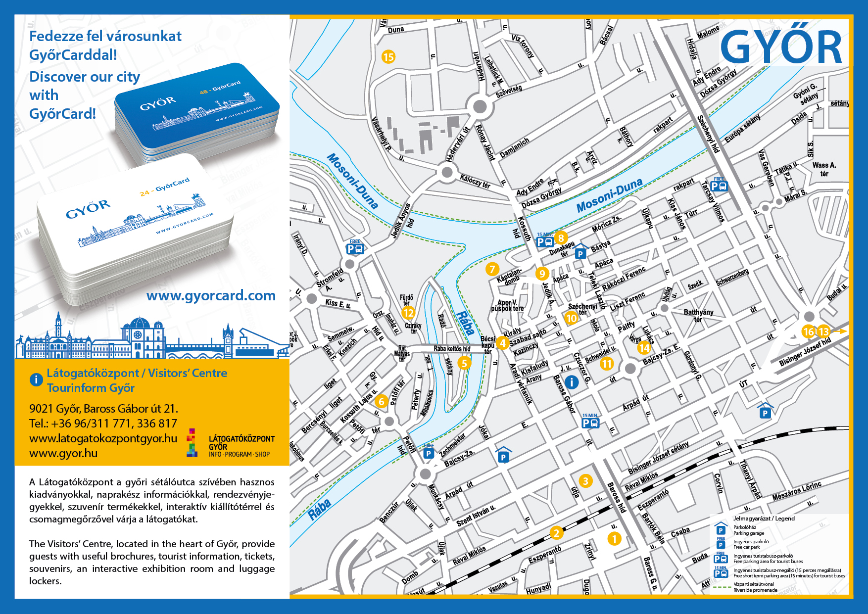 Downtown walks & hiking routes - GyőrCard